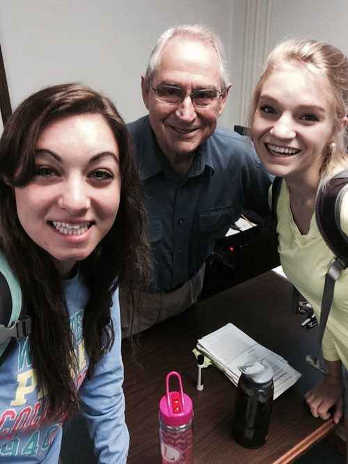 After-class selfie with Dr. Berger