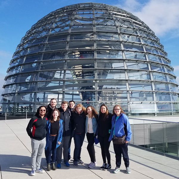 Honors students abroad in Berlin